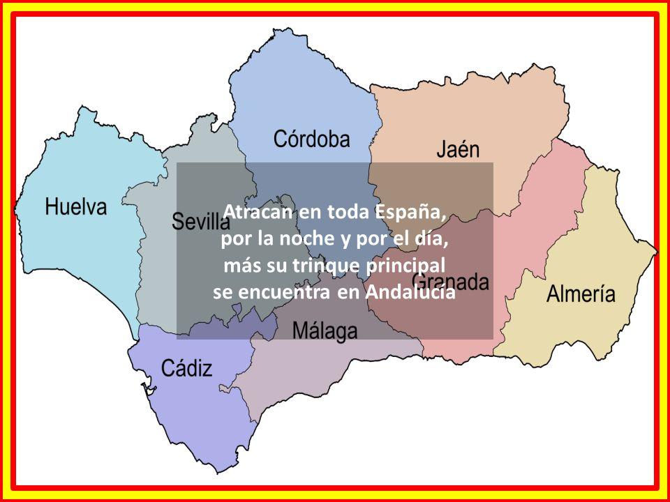 Atracan en toda España, por la noche y por el día, más su trinque principal se encuentra en Andalucía