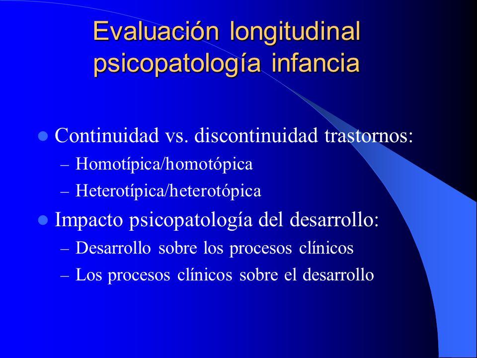 Evaluación longitudinal psicopatología infancia