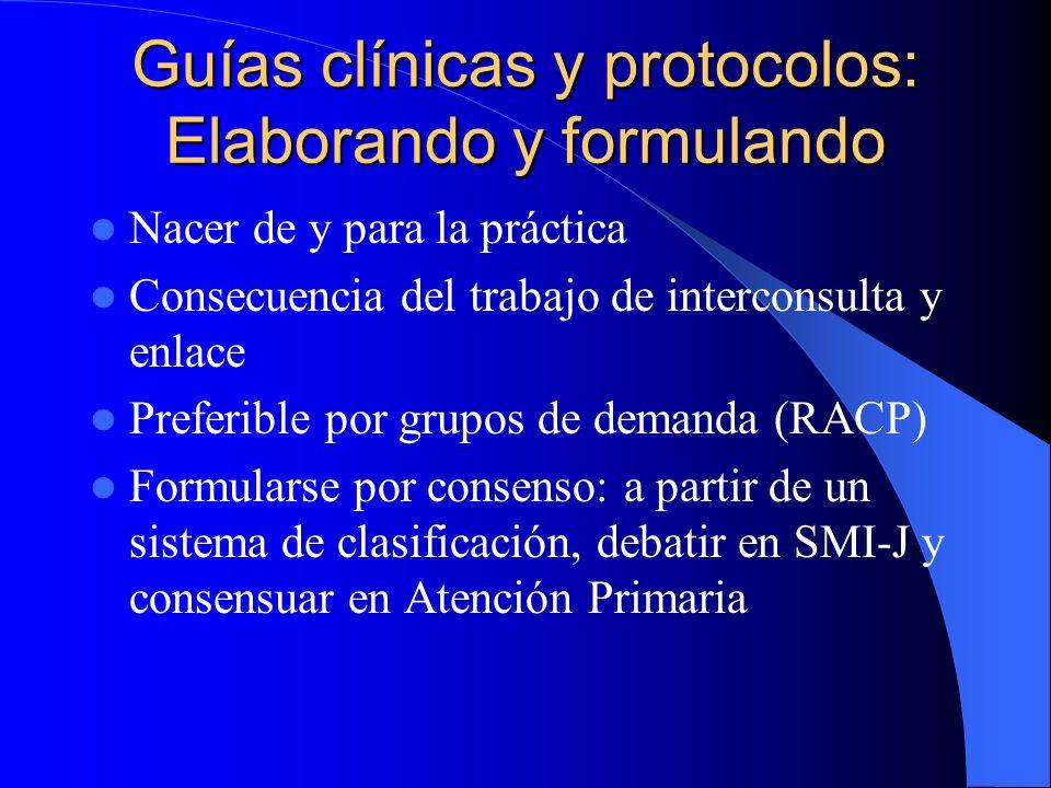 Guías clínicas y protocolos: Elaborando y formulando