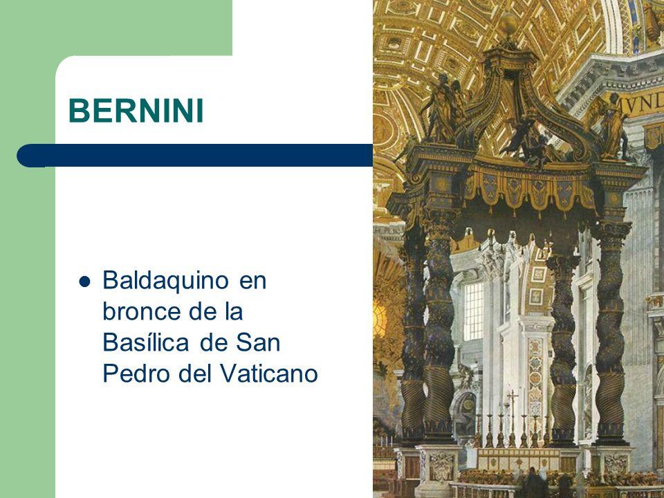 BERNINI Baldaquino en bronce de la Basílica de San Pedro del Vaticano