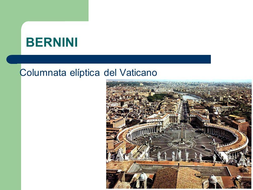 BERNINI Columnata elíptica del Vaticano
