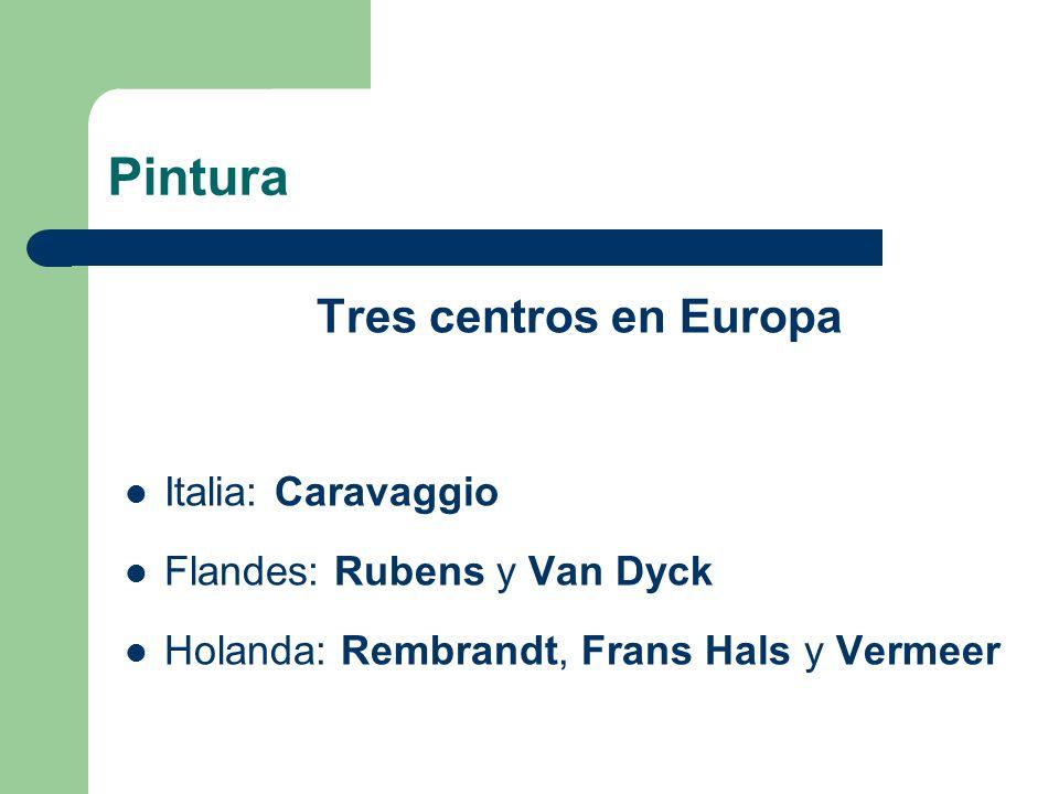 Pintura Tres centros en Europa Italia: Caravaggio
