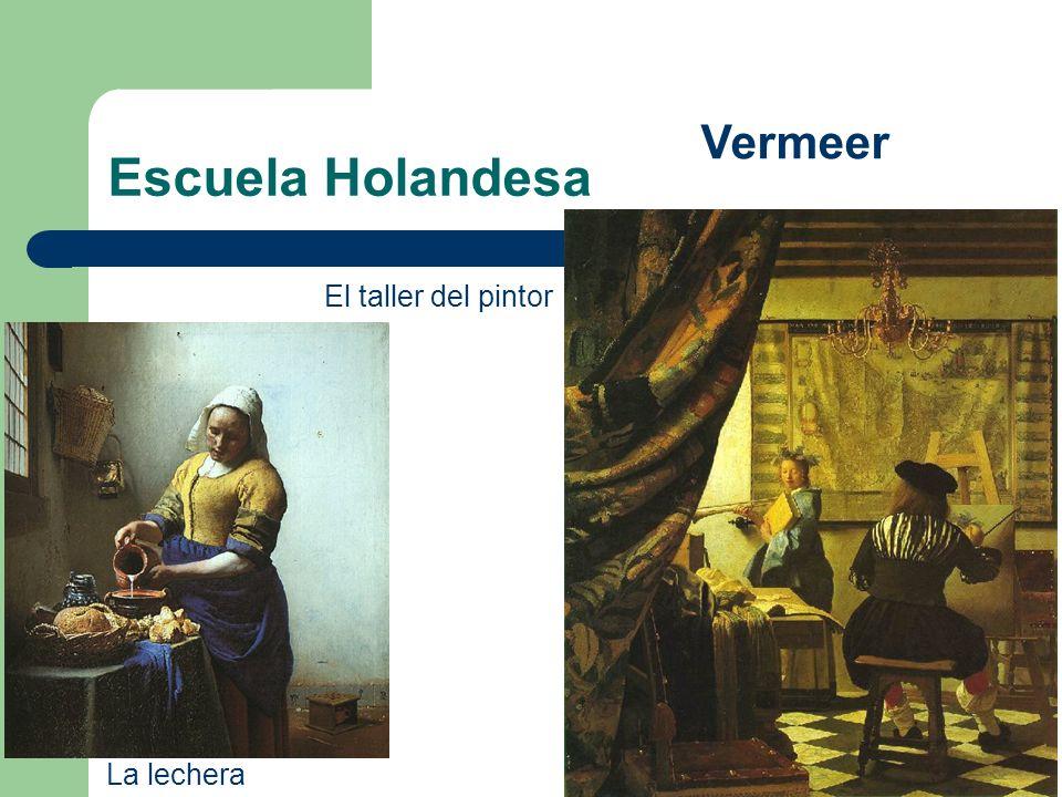 Escuela Holandesa Vermeer El taller del pintor La lechera