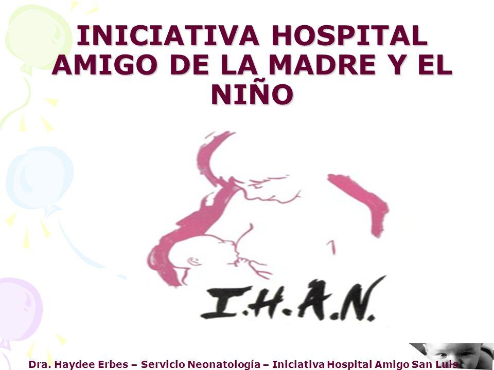 INICIATIVA HOSPITAL AMIGO DE LA MADRE Y EL NIÑO