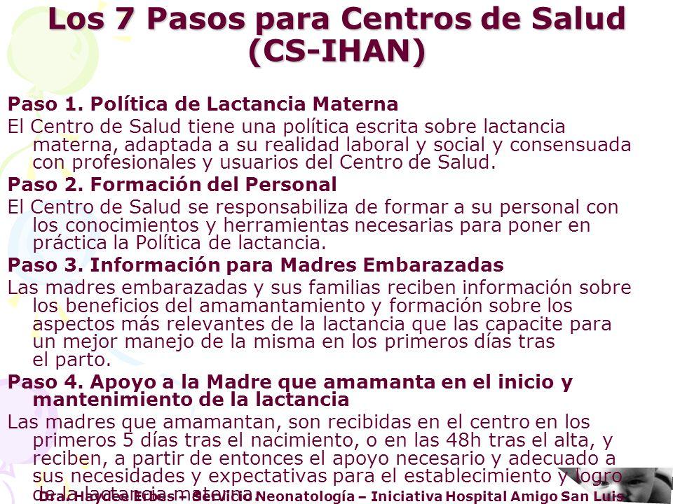 Los 7 Pasos para Centros de Salud (CS-IHAN)