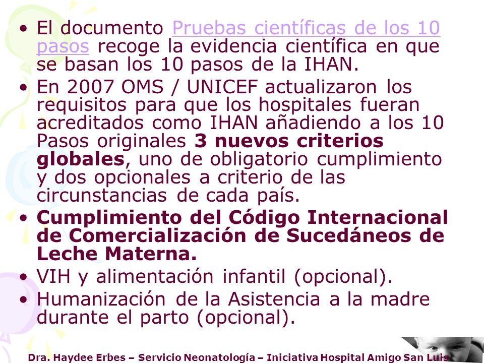 VIH y alimentación infantil (opcional).