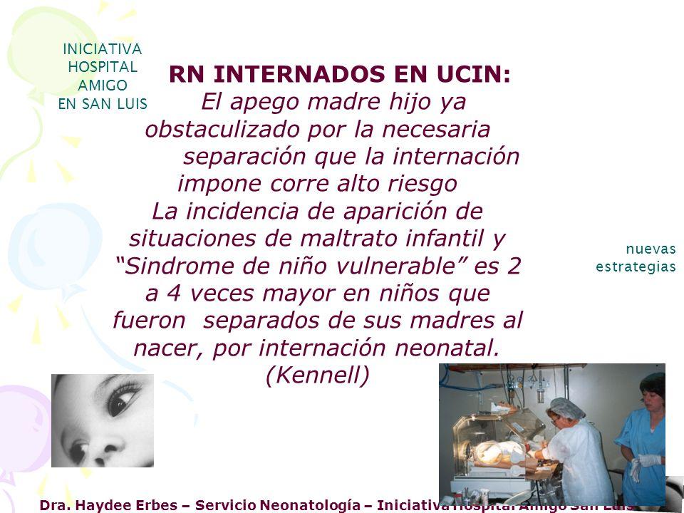 INICIATIVA HOSPITAL AMIGO. EN SAN LUIS. RN INTERNADOS EN UCIN: