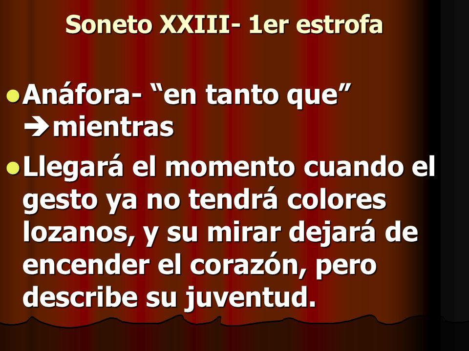 Soneto XXIII- 1er estrofa