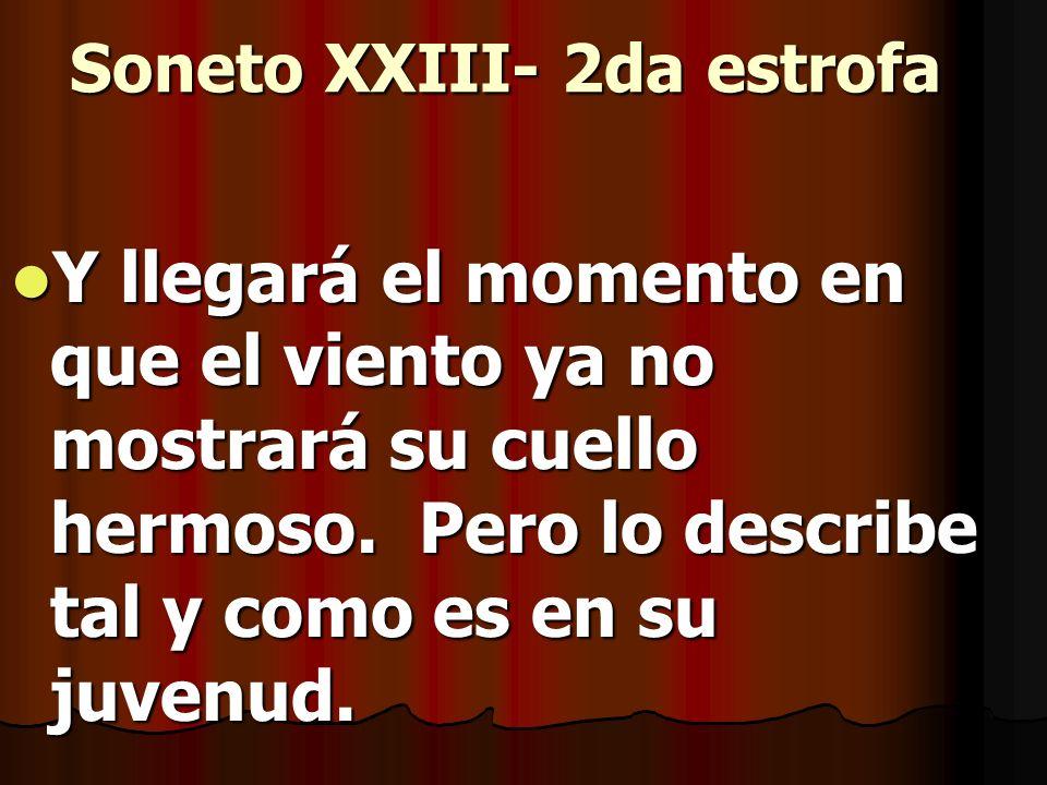 Soneto XXIII- 2da estrofa
