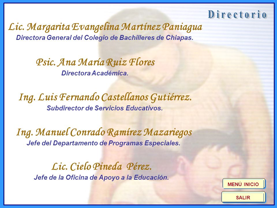 D i r e c t o r i o Lic. Margarita Evangelina Martínez Paniagua