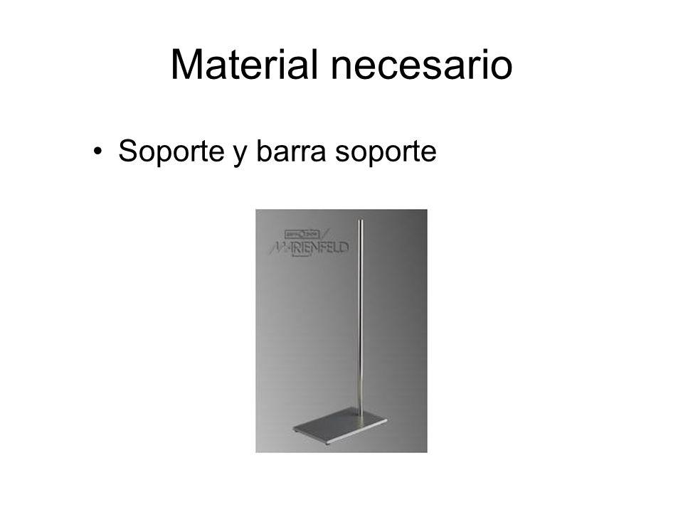 Material necesario Soporte y barra soporte