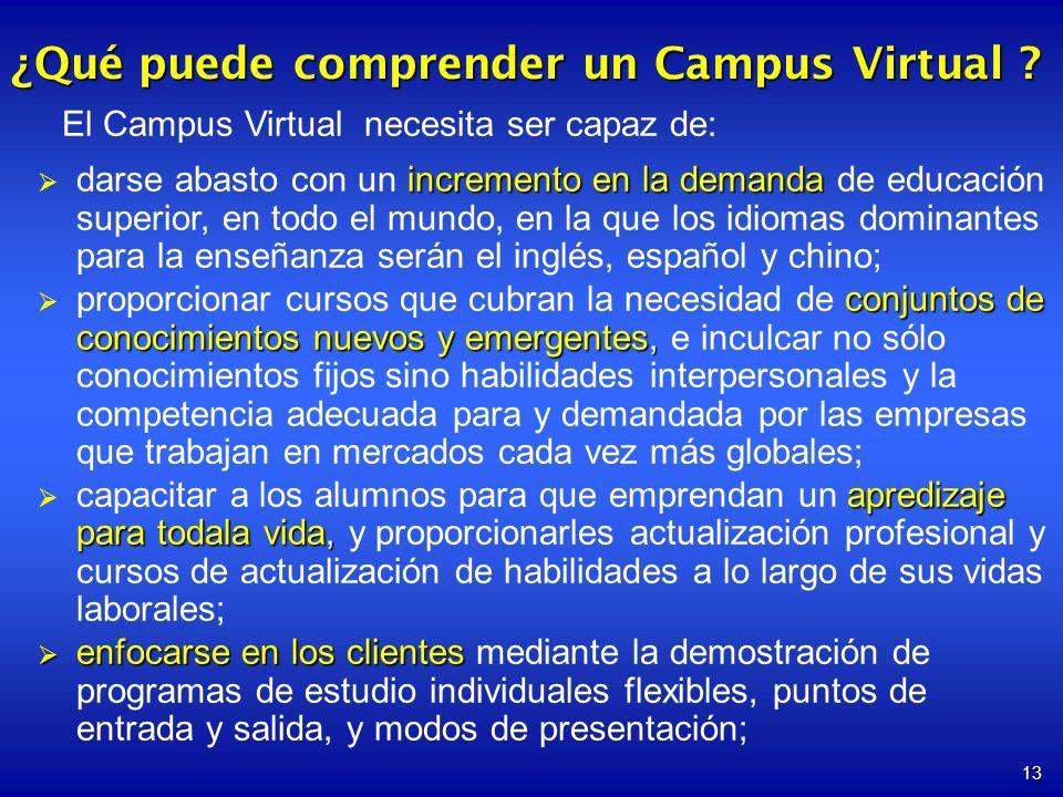 ¿Qué puede comprender un Campus Virtual