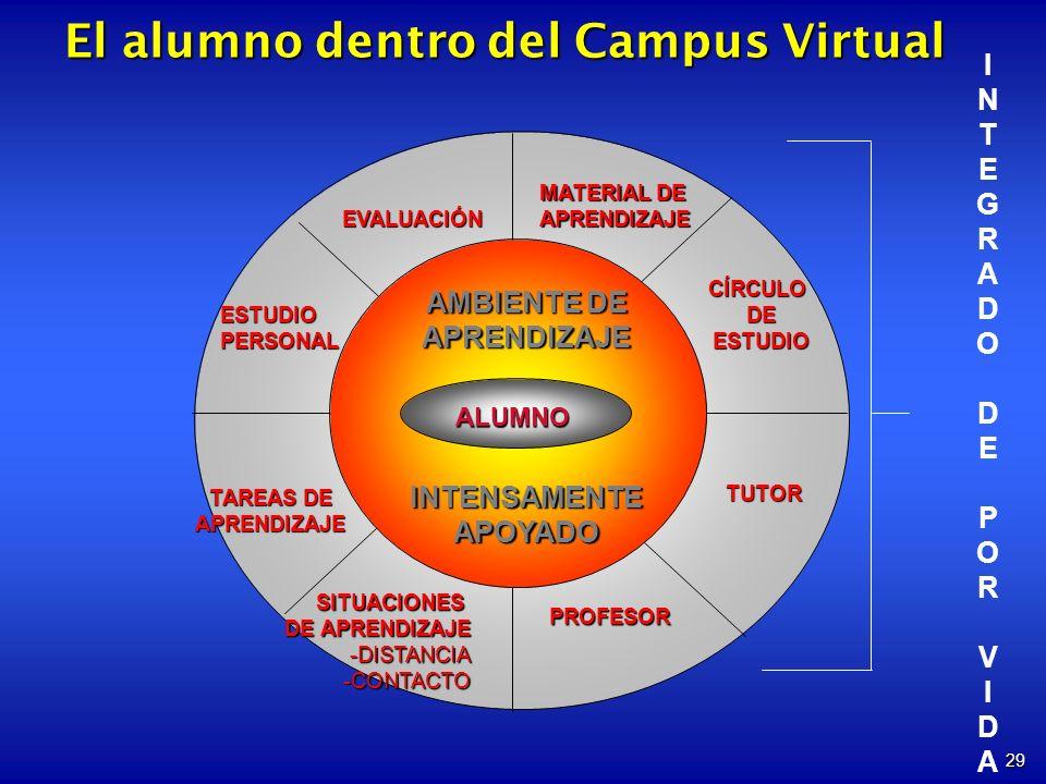El alumno dentro del Campus Virtual