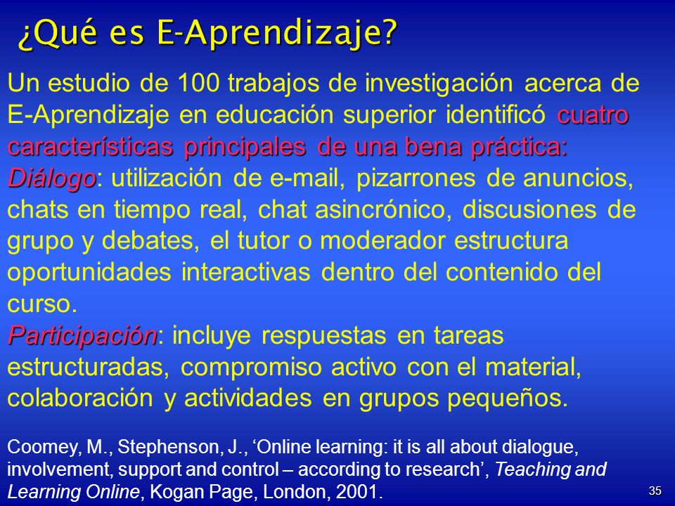¿Qué es E-Aprendizaje