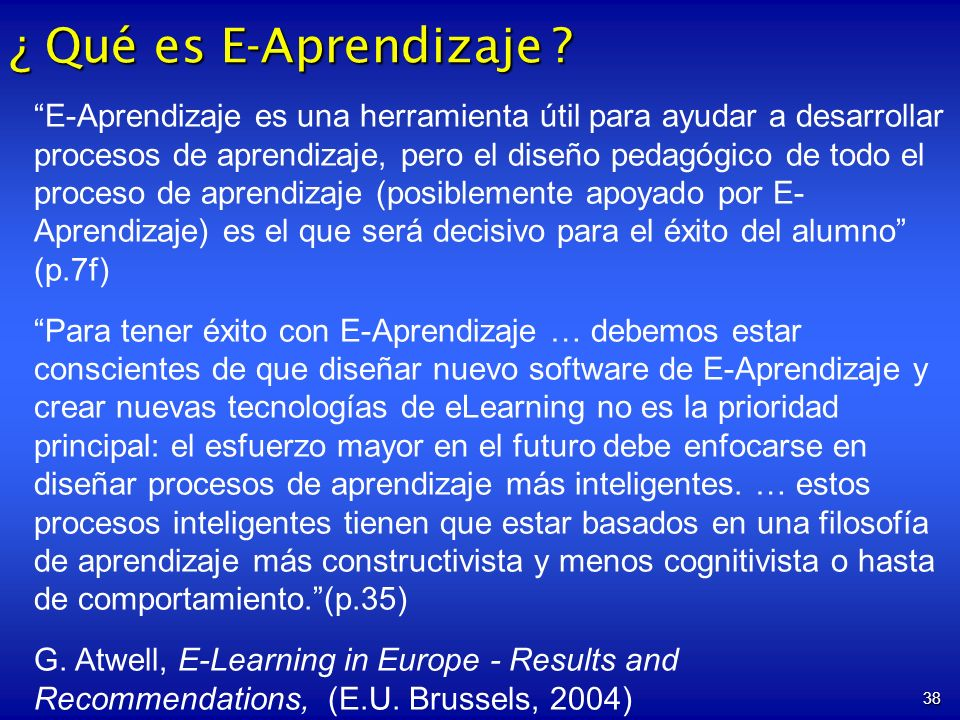 ¿ Qué es E-Aprendizaje