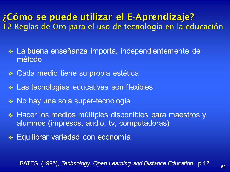 ¿Cómo se puede utilizar el E-Aprendizaje