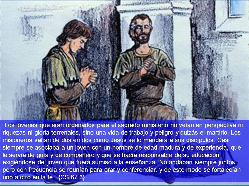 Los jóvenes que eran ordenados para el sagrado ministerio no veían en perspectiva ni riquezas ni gloria terrenales, sino una vida de trabajo y peligro y quizás el martirio.