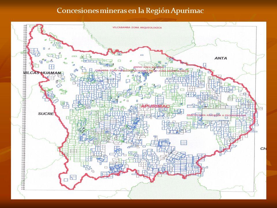 Concesiones mineras en la Región Apurimac