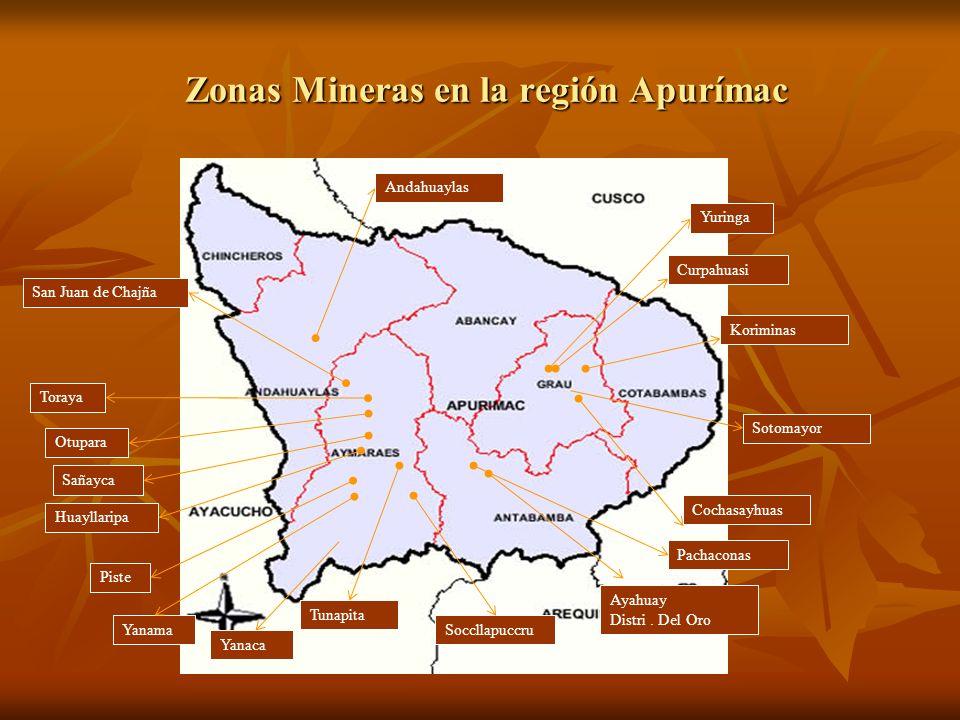 Zonas Mineras en la región Apurímac