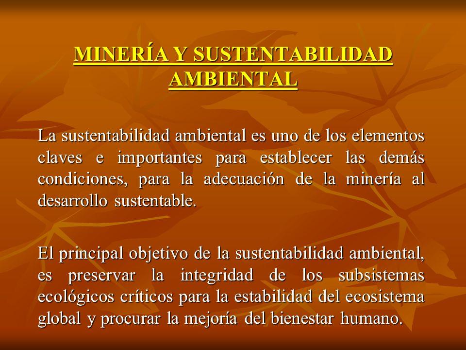 MINERÍA Y SUSTENTABILIDAD AMBIENTAL