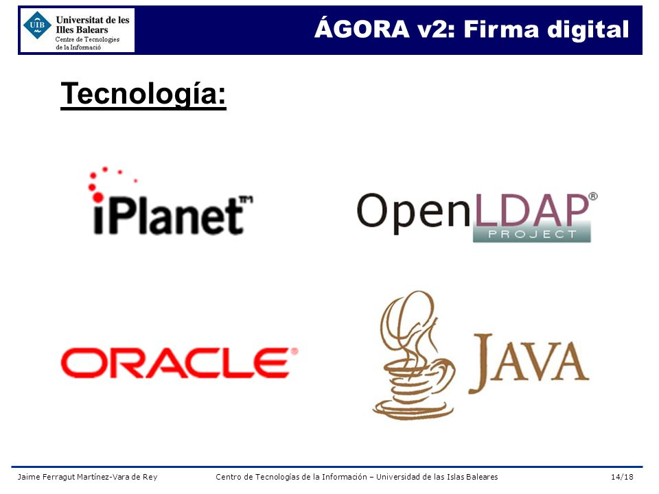 ÁGORA v2: Firma digital Tecnología: