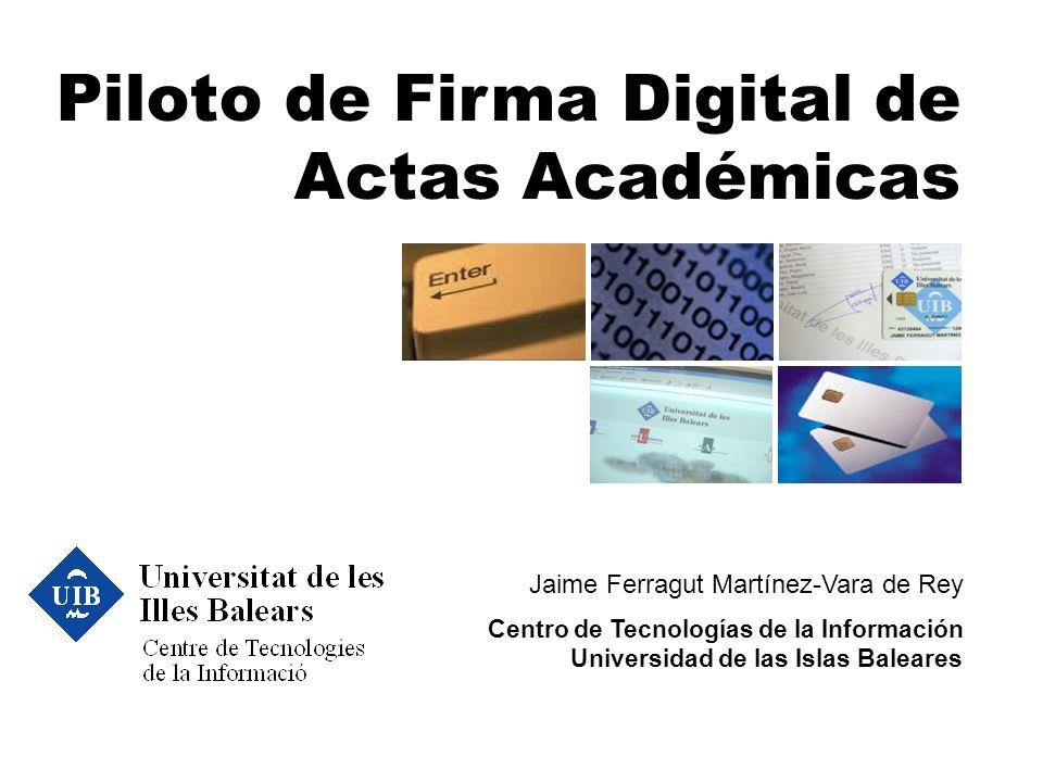 Piloto de Firma Digital de Actas Académicas