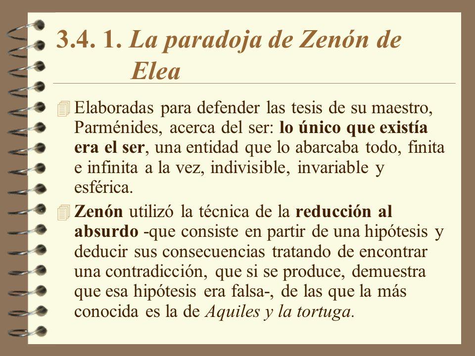 3.4. 1. La paradoja de Zenón de Elea