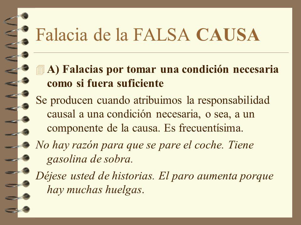 Falacia de la FALSA CAUSA