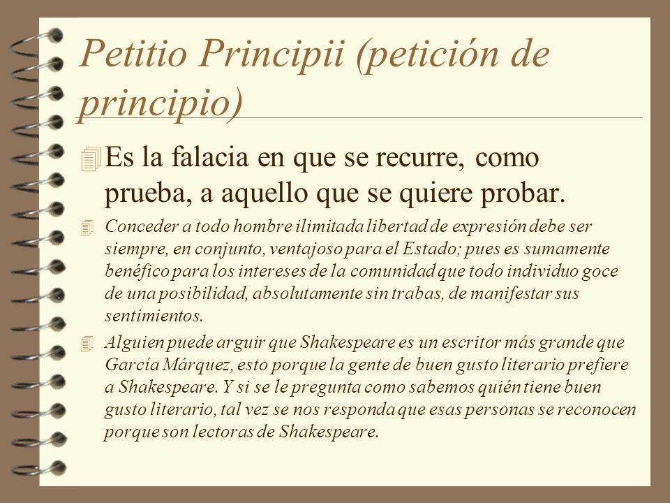 Petitio Principii (petición de principio)