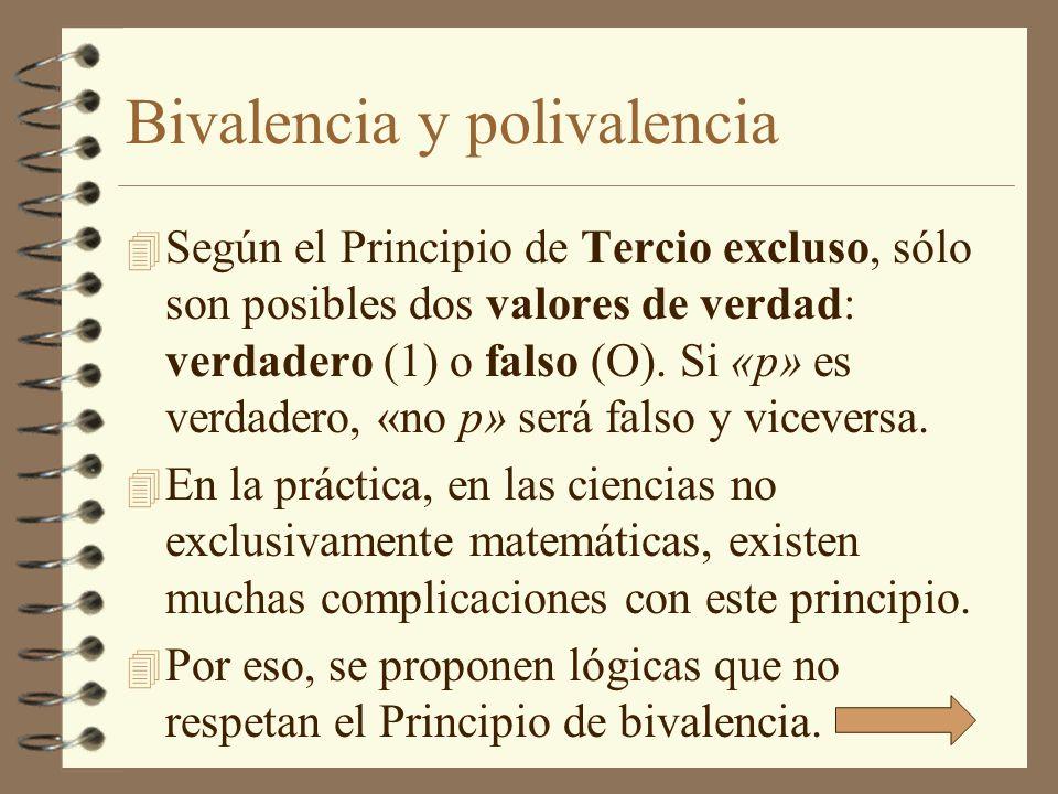 Bivalencia y polivalencia