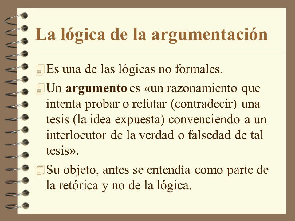 La lógica de la argumentación