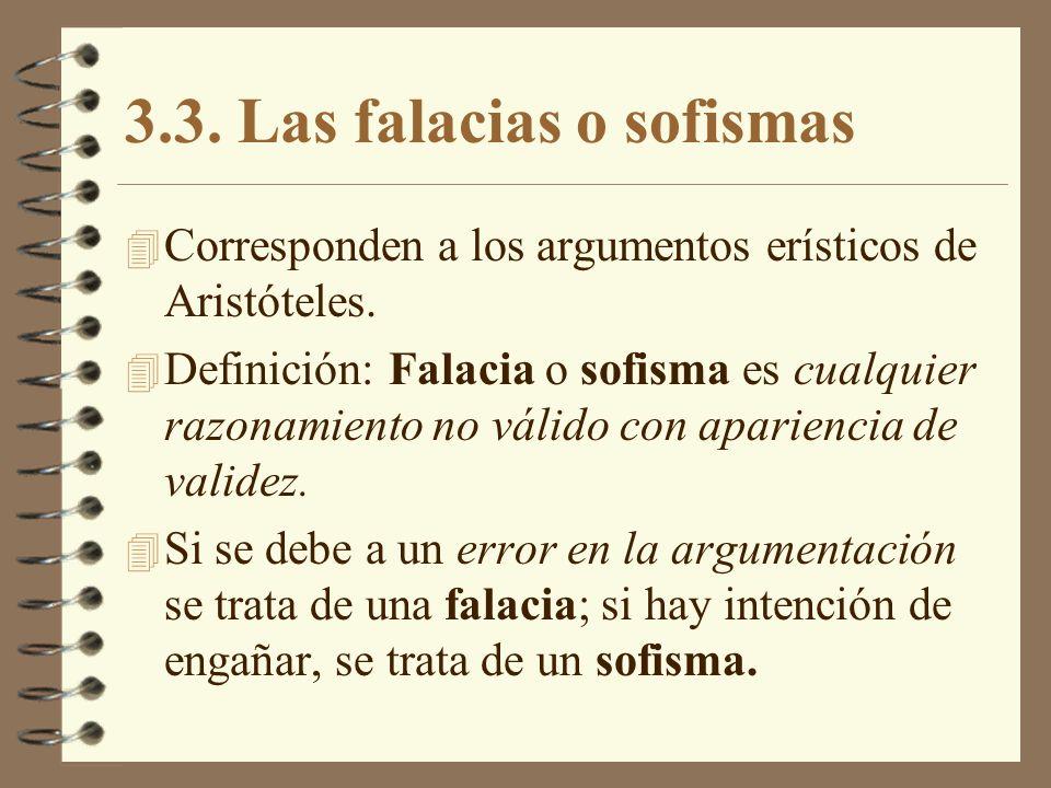 3.3. Las falacias o sofismas