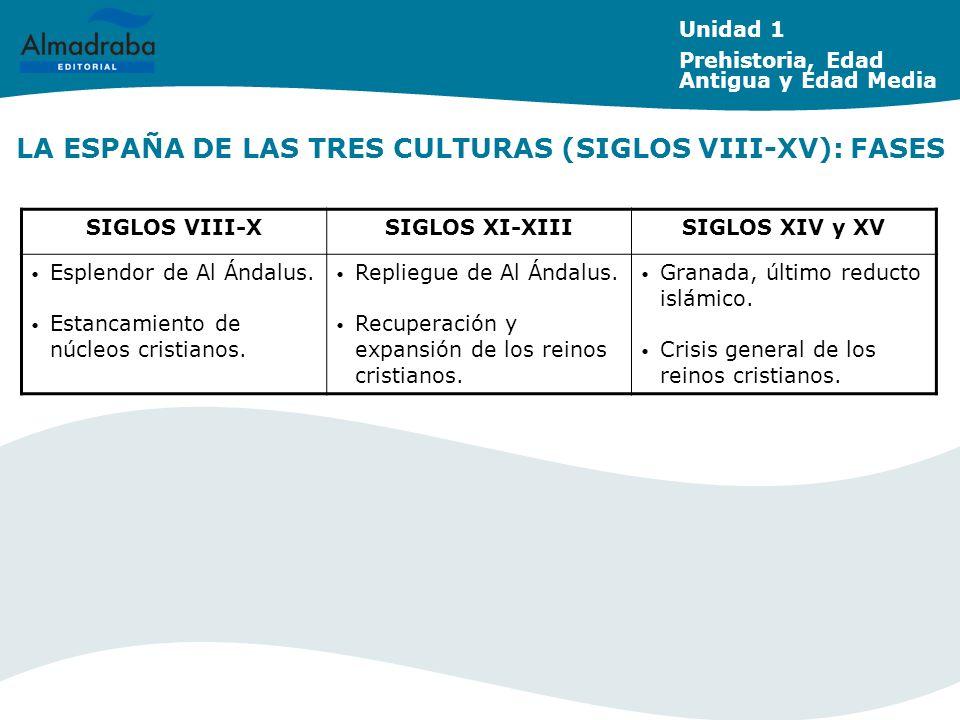 LA ESPAÑA DE LAS TRES CULTURAS (SIGLOS VIII-XV): FASES