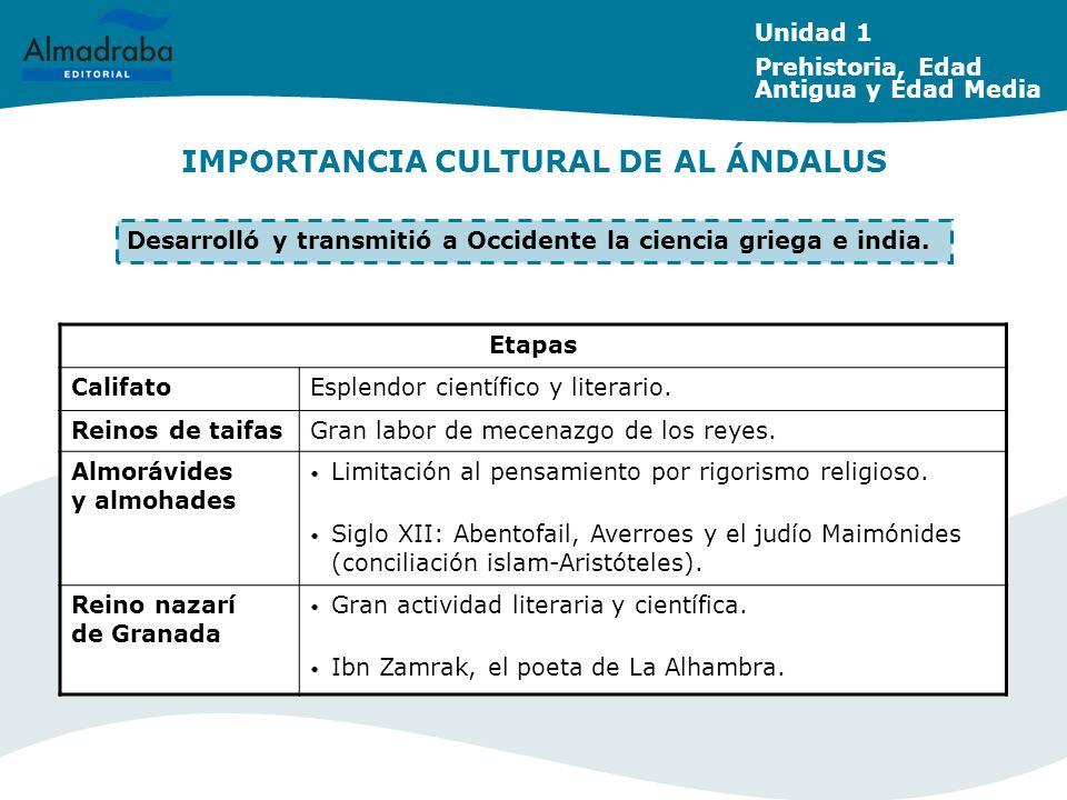 IMPORTANCIA CULTURAL DE AL ÁNDALUS