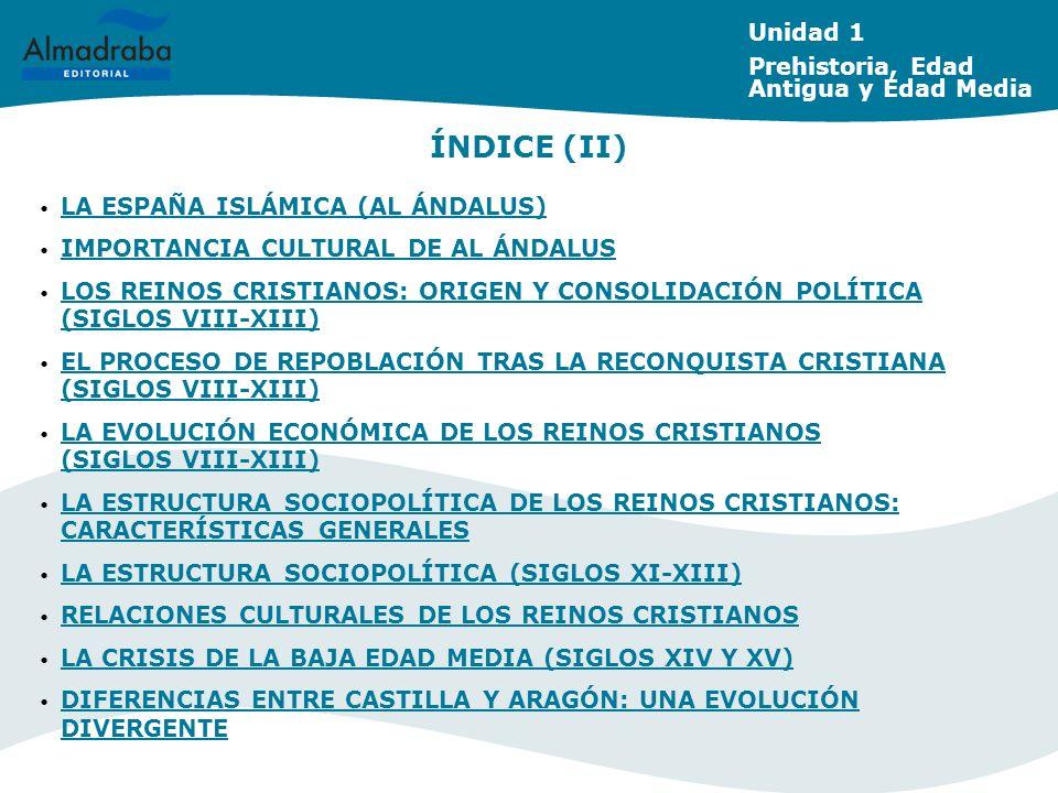 ÍNDICE (II) Unidad 1 Prehistoria, Edad Antigua y Edad Media