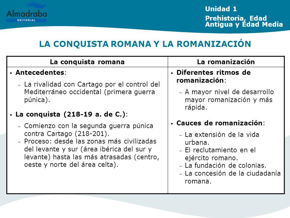 LA CONQUISTA ROMANA Y LA ROMANIZACIÓN