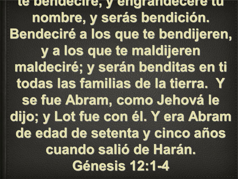 Pero Jehová había dicho a Abram: Vete de tu tierra y de tu parentela, y de la casa de tu padre, a la tierra que te mostraré.