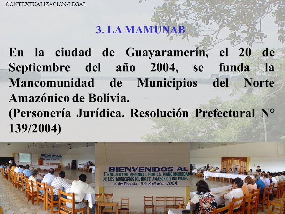 (Personería Jurídica. Resolución Prefectural N° 139/2004)