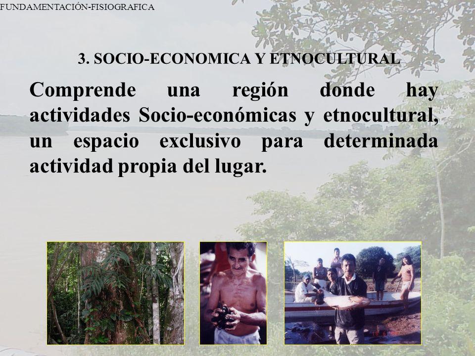 3. SOCIO-ECONOMICA Y ETNOCULTURAL