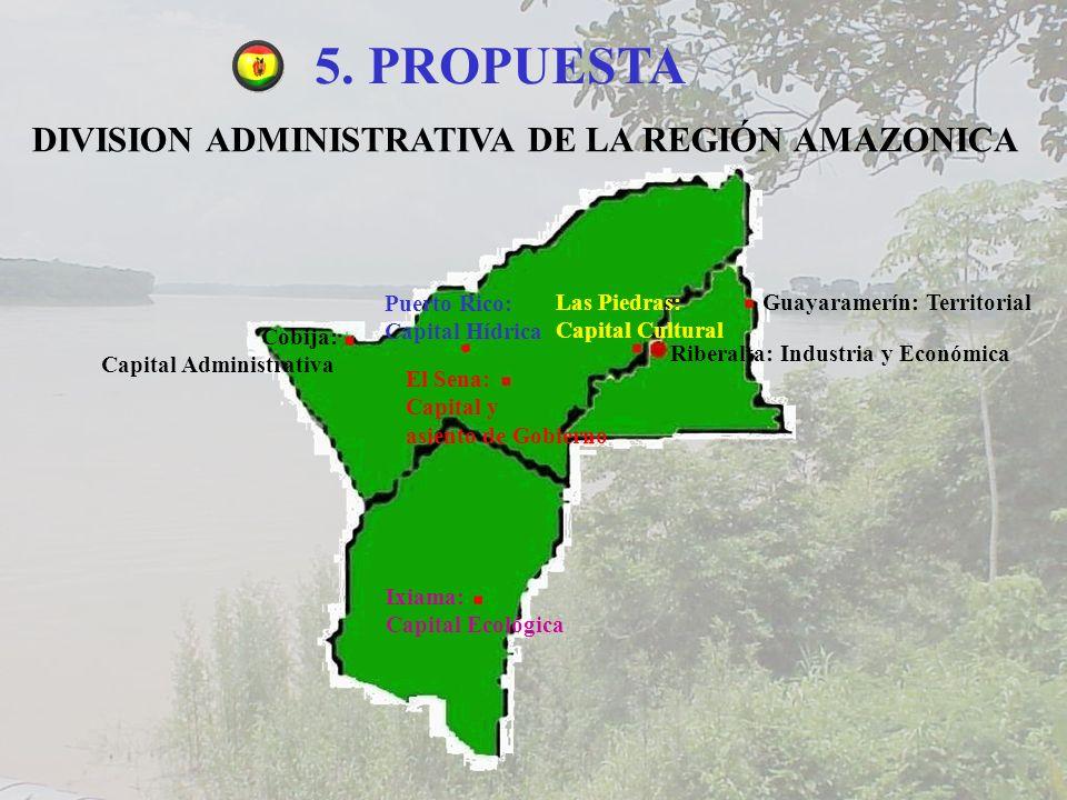 5. PROPUESTA DIVISION ADMINISTRATIVA DE LA REGIÓN AMAZONICA