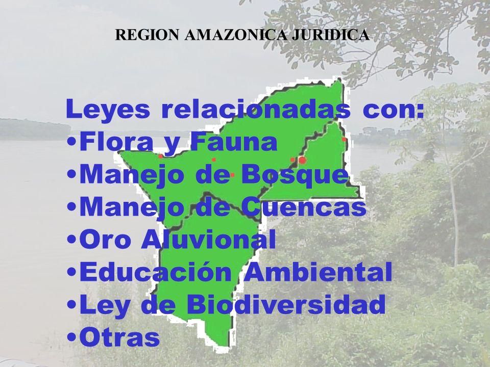 Leyes relacionadas con: Flora y Fauna Manejo de Bosque
