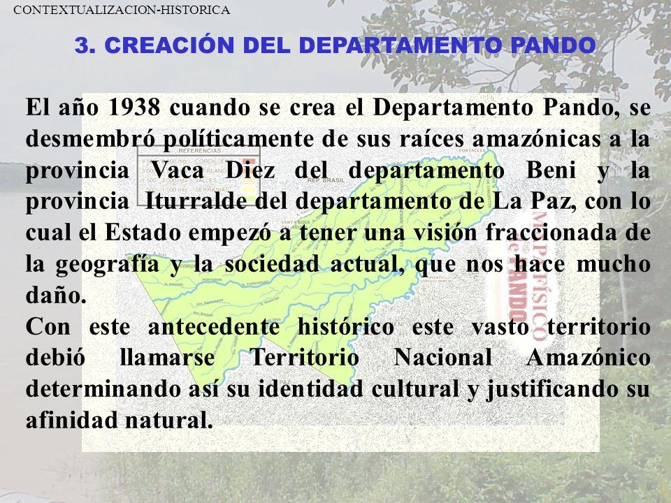 3. CREACIÓN DEL DEPARTAMENTO PANDO