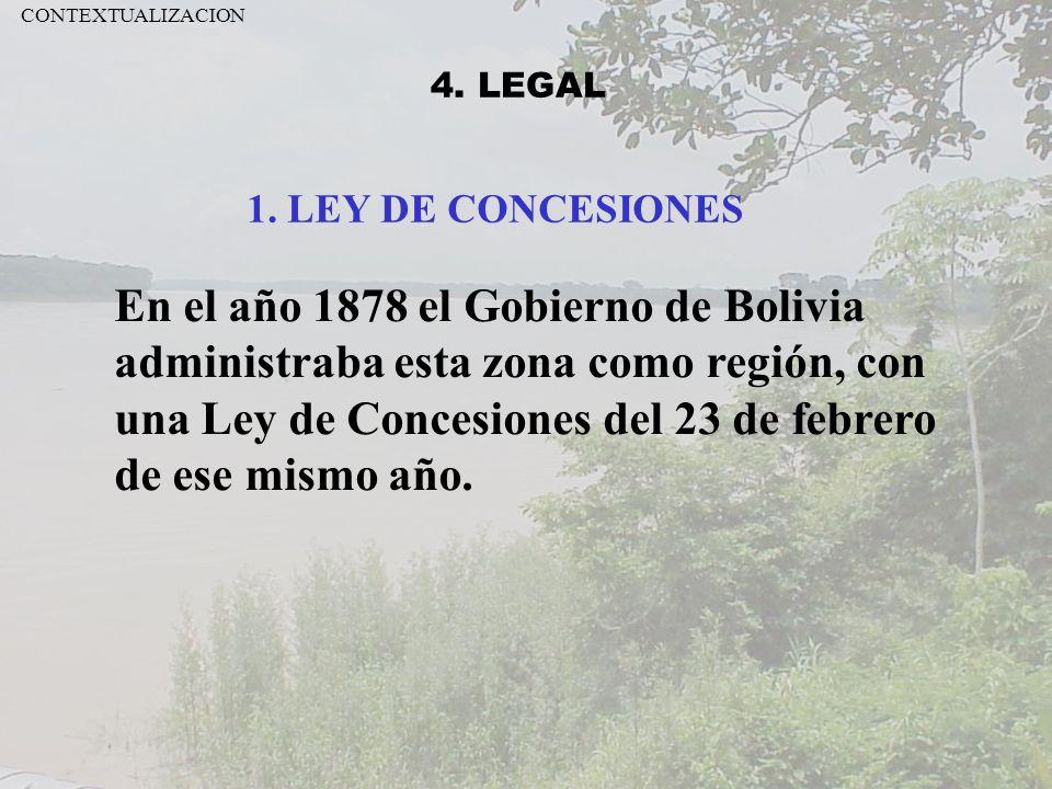 CONTEXTUALIZACION 4. LEGAL. 1. LEY DE CONCESIONES.