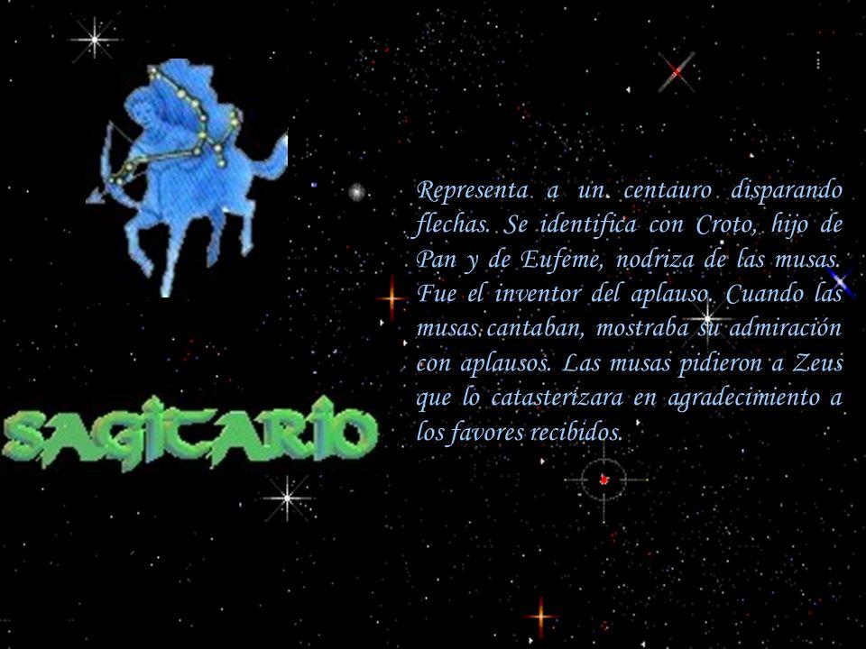 Representa a un centauro disparando flechas