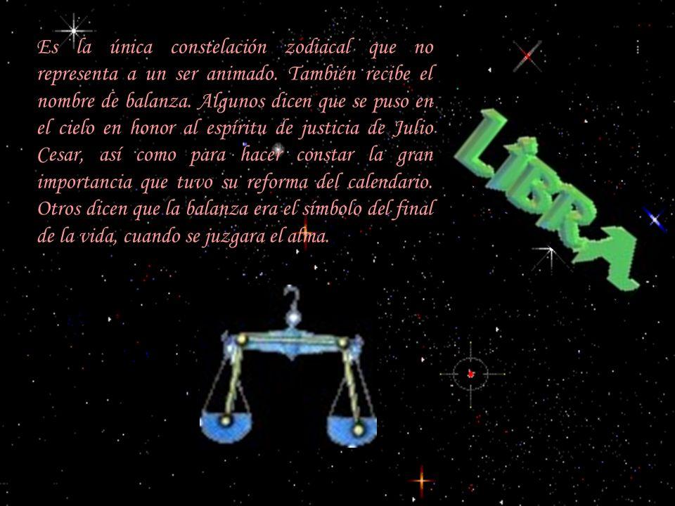 Es la única constelación zodiacal que no representa a un ser animado