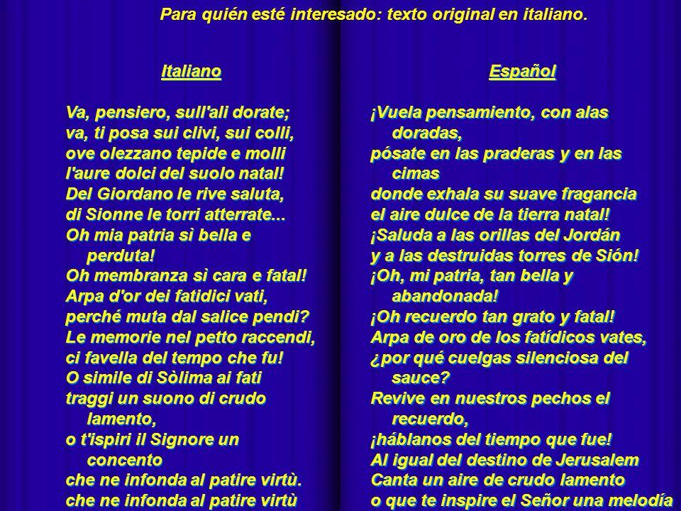 - Para quién esté interesado: texto original en italiano. Italiano