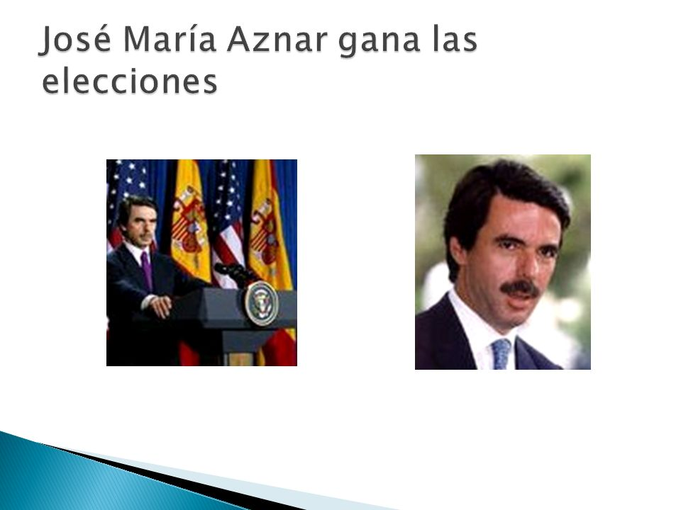 José María Aznar gana las elecciones
