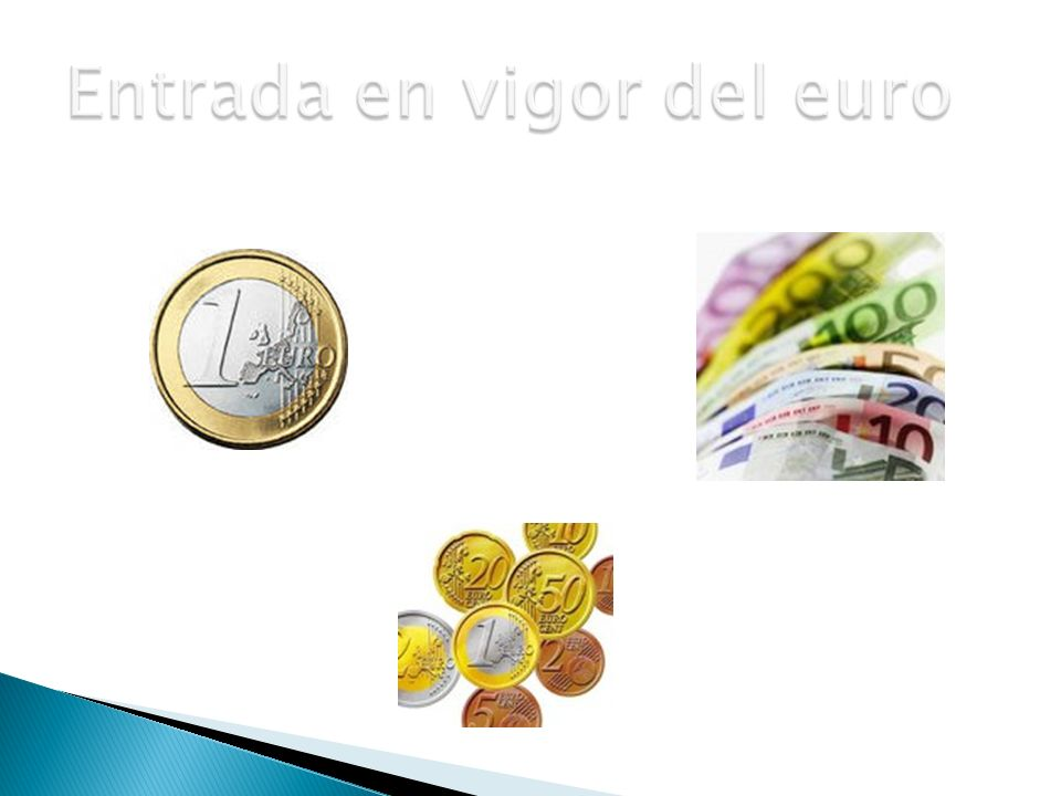 Entrada en vigor del euro