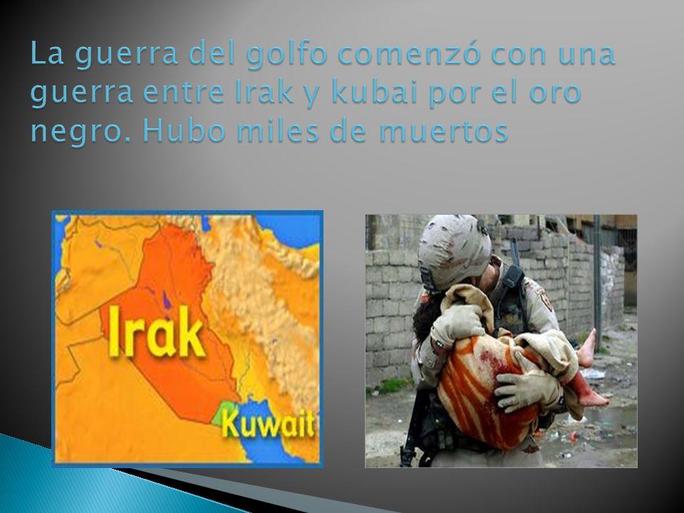 La guerra del golfo comenzó con una guerra entre Irak y kubai por el oro negro.
