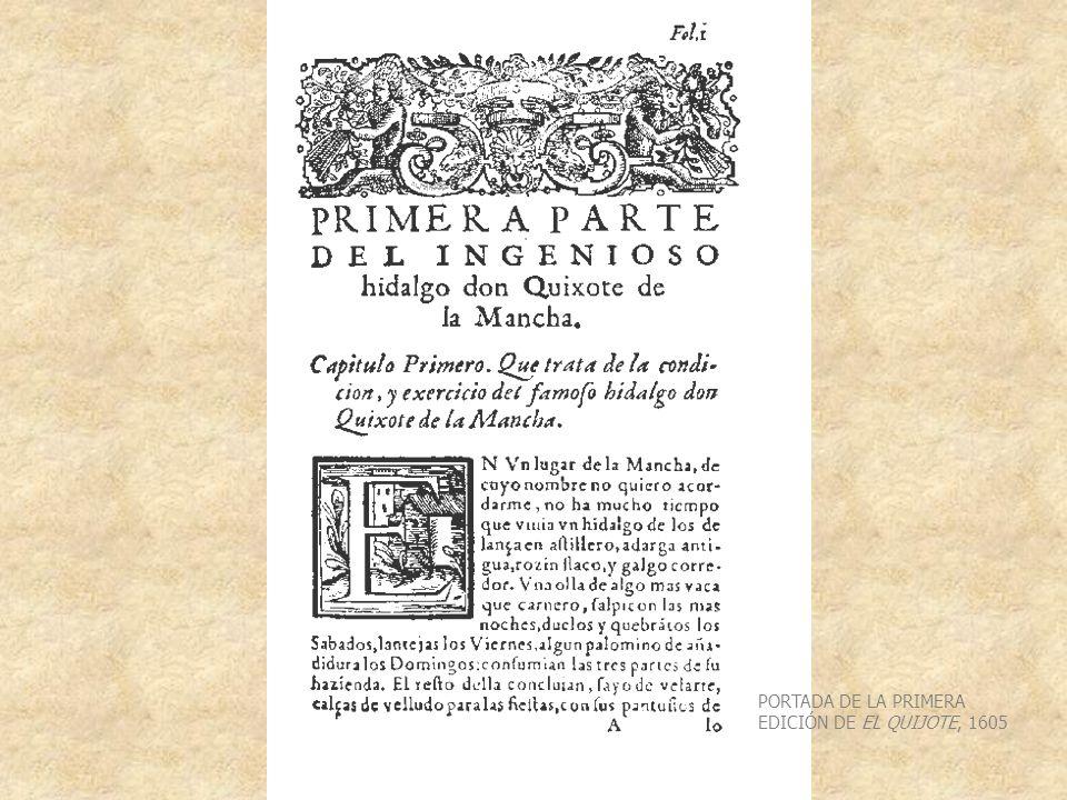 PORTADA DE LA PRIMERA EDICIÓN DE EL QUIJOTE, 1605